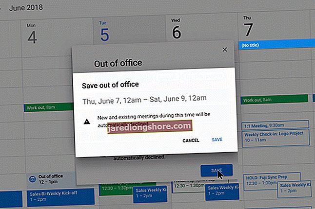 Sündmuse tühistamine Google'i kalendris