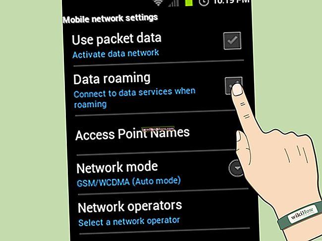 Hogyan állítsuk be az Android telefont a roaming kikapcsolására