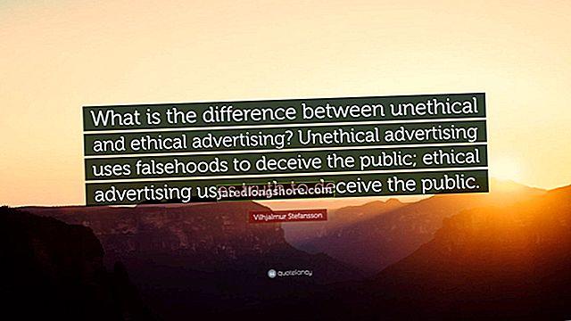Koks skirtumas tarp neetiškos ir etiškos reklamos?