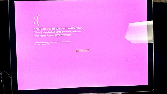 Kaip padėti rožinį ekraną kompiuteryje
