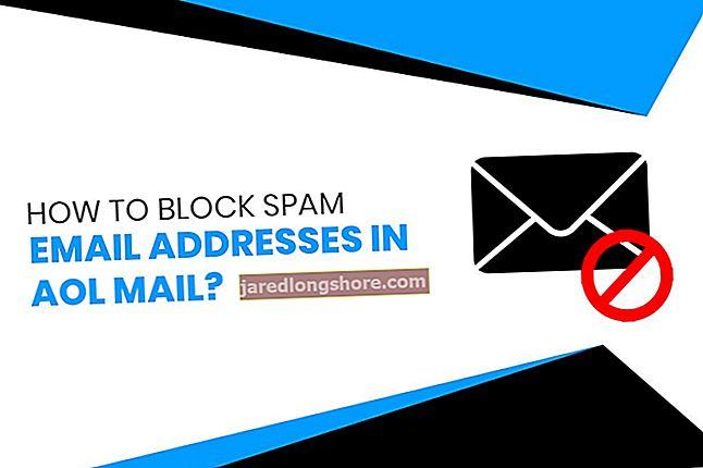Kaip blokuoti el. Pašto adresus AOL