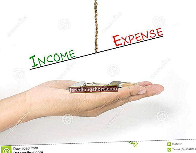 Ero tulojen ja kulujen välillä