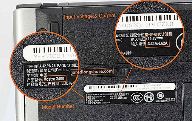 Ako vyhľadať čísla modelov stolových počítačov Dell